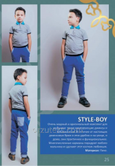 Set for the boy of STYLE BOY polo-neck, body