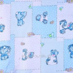 Детская ткань Мохнатый мишка