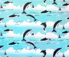 Детская ткань Дельфин