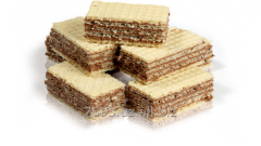 Wafers weight with a chocolate stuffing