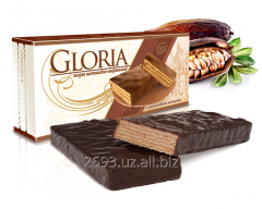 Wafer cake with chocolate glaze. 250g GLORIA