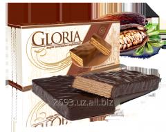 Wafer cake with chocolate glaze. 250g GLORIA