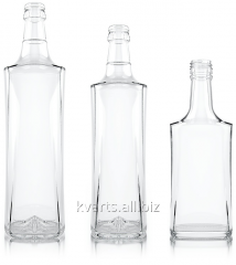 Bottles are glass vodka