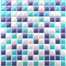 Glass mosaic Dark-violet, blue, white