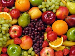 Sweet cherry, peaches, apricots, apple