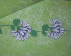 Бязь набивная полотно вьюн зеленый