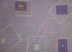 Бязь набивная полотно абстракция фиолетовый