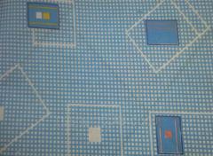 Бязь набивная полотно абстракция голубой
