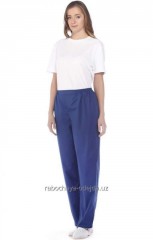 Trousers for employees of beauty shops the article