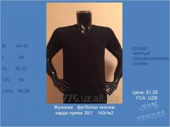 T-shirt man's 140g/sq.m collar of V