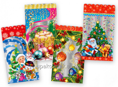Packages are New Year's gift polypropylene