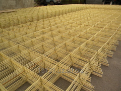 Fiber glass grid for reinforcing