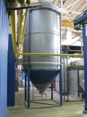 Capacities for storage liquid and bulks (the