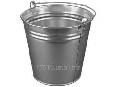 Bucket black tin average, big