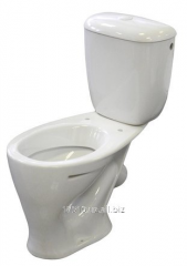 The toilet bowl compact is ceramic