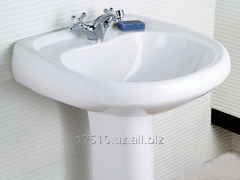 Sink a wash basin with a pedestal - ceramic