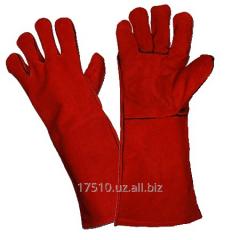 Gaiter gloves for the welder