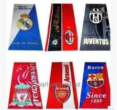 Полотенце с логотипом футбольных команд