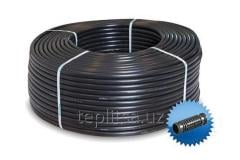 Drip irrigation hose c built round emitter for