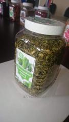 Green paprika dried