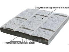 Panels the thermoisolating Decorative plates, a