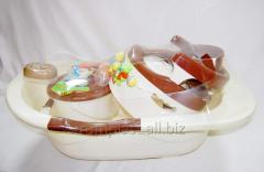 Bathing set for newborns
