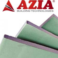 Gypsum cardboard moisture resistant wall
