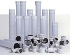 Sewer pipes PVC from 50х200