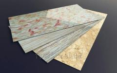 Decorative panels from PVC