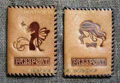 Passport covers from genuine leather