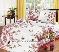 Oriental cherry bedding set white