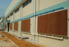 Vaporizing panels for cooling of industrial