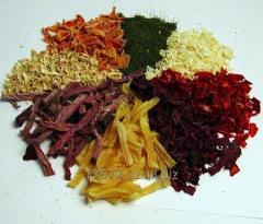 Vegetables dried