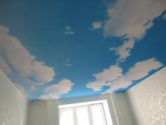 Stretch ceilings installation and production from