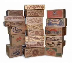 Cardboard packing for candy stores and foodstuff