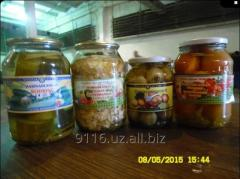 Vegetables tinned