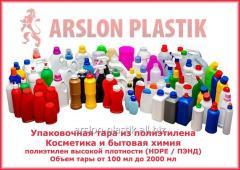 Container plastic for cosmetics and household