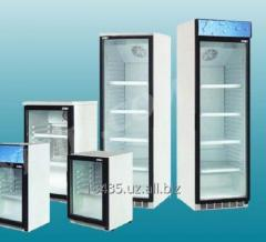 Glass refrigerating case