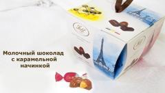 Конфеты молочный шоколад FESTIF с карамельной