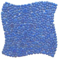 Glass mosaic for fireplace