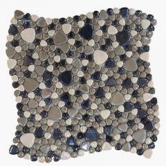 Glass mosaic for decorative works