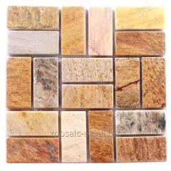 Мозаика из природного камня M-14 2 Сланец 28x28