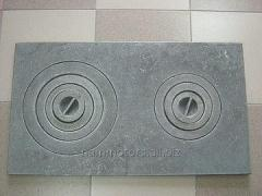 Plates of cast iron mounting