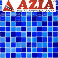 Glass mosaic for pool