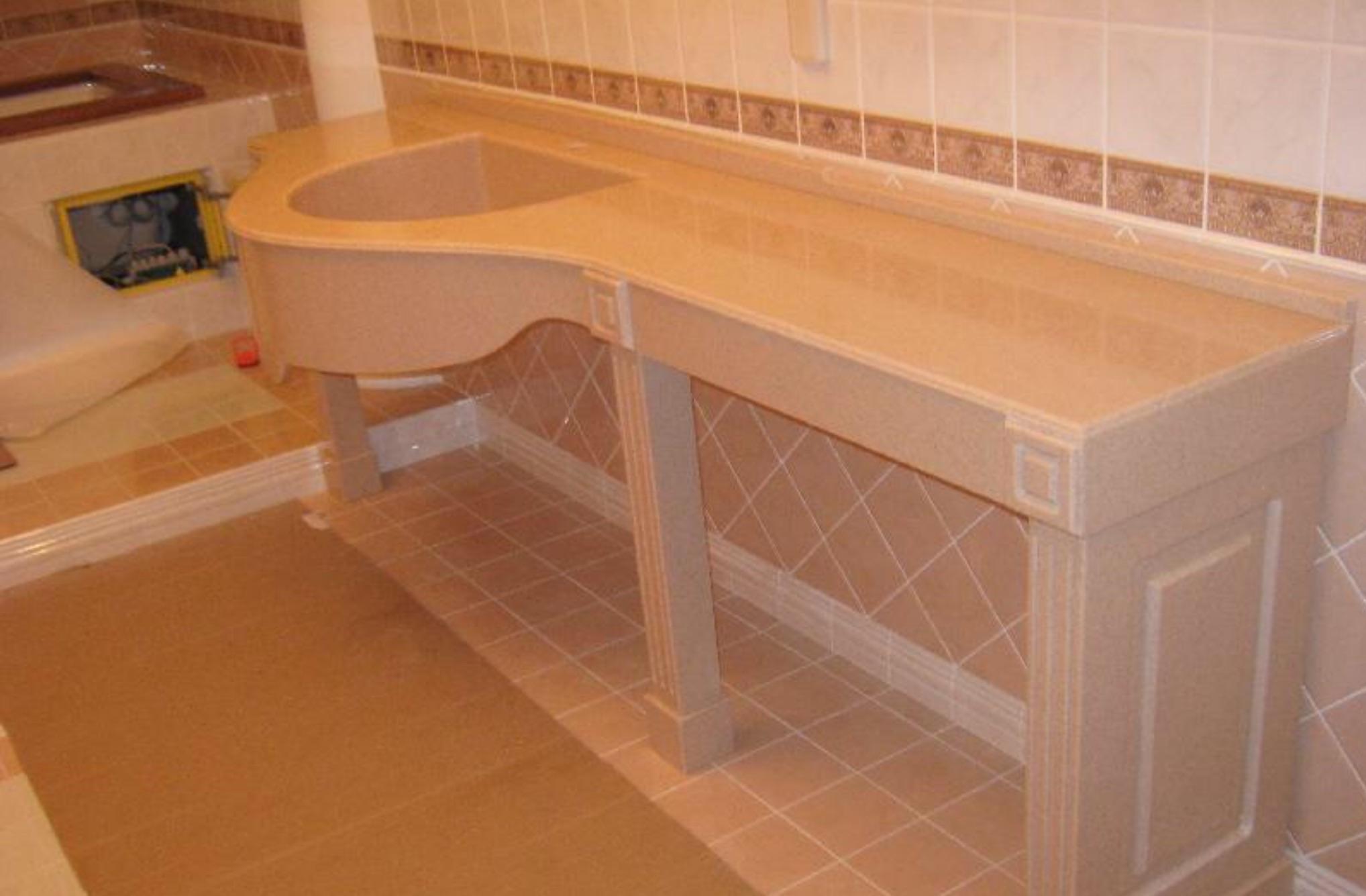 Стол под умывальник в ванную своими руками 63