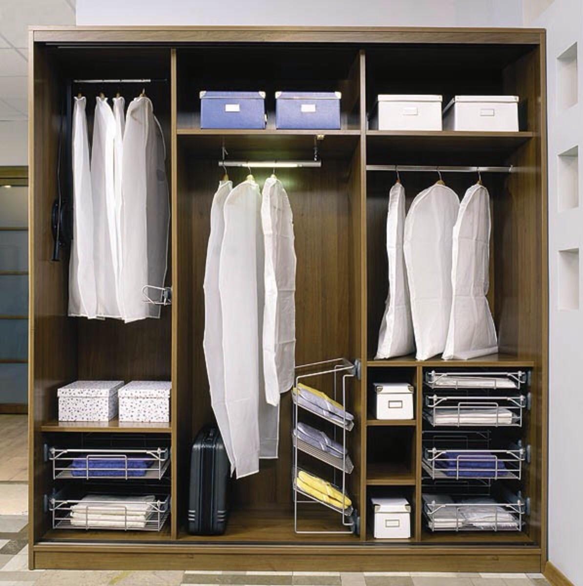 Шкаф двухдверный, внутреннее наполнение и чем отличаются меж.