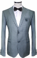 Suit light gray in cage
