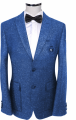 Suit brightly blue man's