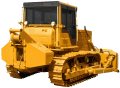 The bulldozer B10M with the traction winch
