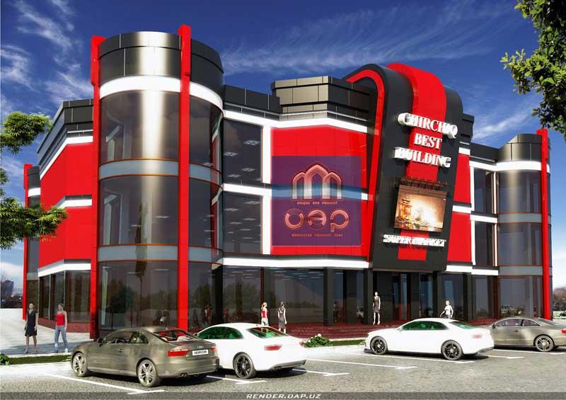 Заказать Дизайн магазинов, торговых центров в стиле хай-тек